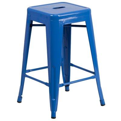 Lompoc 24 Bar Stool Finish: Glossy Blue