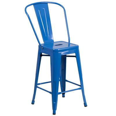 Dovercliff 24 Bar Stool Finish: Glossy Blue