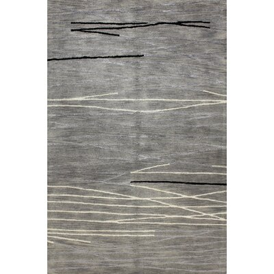 Dweeprakshak Hand-Tufted Grey Area Rug Rug Size: Rectangle 56 x 86