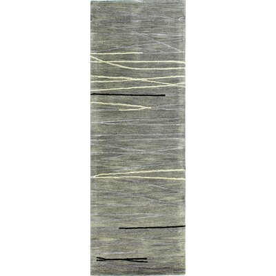 Dweeprakshak Hand-Tufted Grey Area Rug Rug Size: Runner 26 x 8