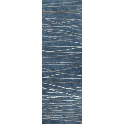 West Elk Hand-Tufted Azure Area Rug Rug Size: Runner 26 x 8