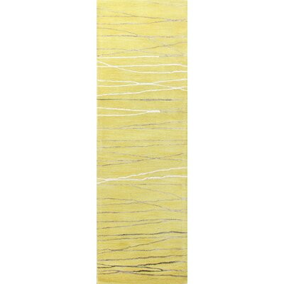 Barbera Hand-Tufted Gold Area Rug Rug Size: Runner 26 x 8