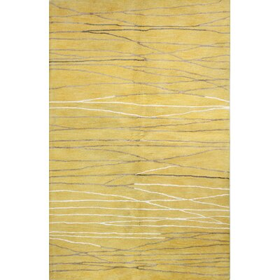 Barbera Hand-Tufted Gold Area Rug Rug Size: Rectangle 56 x 86