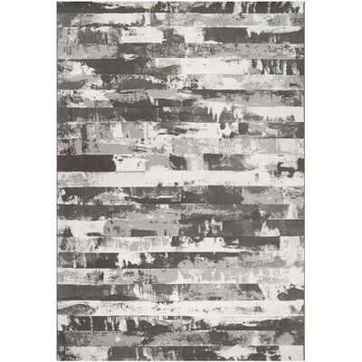 Franklin Gray Stripes Area Rug Rug Size: Rectangle 311 x 57