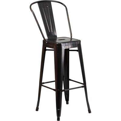 Cercis 30 Bar Stool Finish: Black/Antique Gold