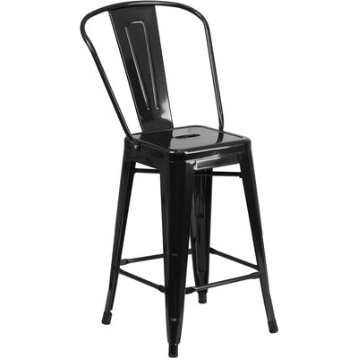 Dovercliff 24 Bar Stool Finish: Glossy Black