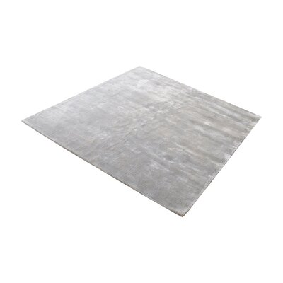 Loretta Hand-Woven Silver Area Rug Rug Size: Square 6