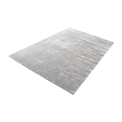 Loretta Hand-Woven Silver Area Rug Rug Size: Rectangle 5 x 8