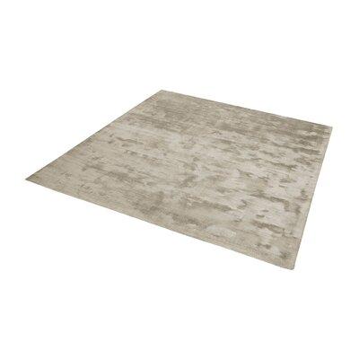 Loretta Hand-Woven Stone Area Rug Rug Size: Square 14