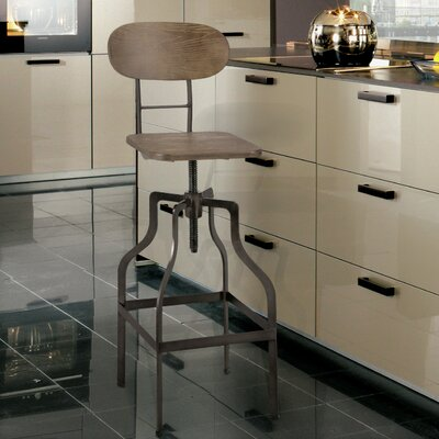 Rhodes Adjustable Height Industrial Bar Stool
