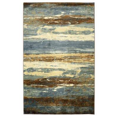 Pallaton Sea Urban Blue/Brown Area Rug