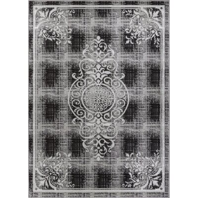 Bezout Geometric Gray Area Rug Rug Size: 710 x 910
