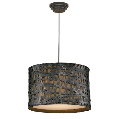 Mollie 3-Light Drum Foyer Pendant Finish: Rust Black
