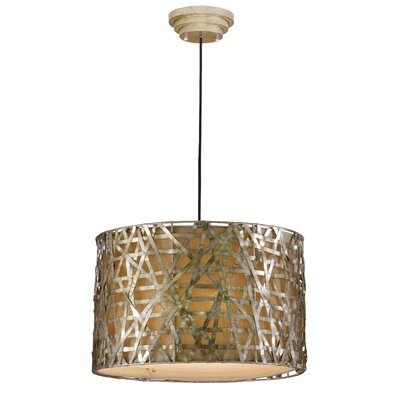 Mollie 3-Light Drum Foyer Pendant Finish: Champagne Satin
