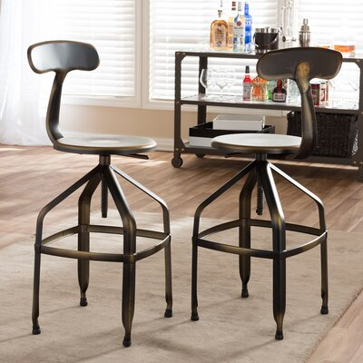 Flanagan Adjustable Height Swivel Bar Stool