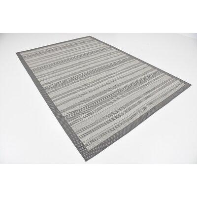Yantarni Gray Outdoor Area Rug Rug Size: 6 x 9
