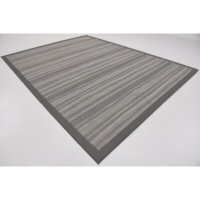 Antoine Gray Outdoor Area Rug Rug Size: 9 x 12