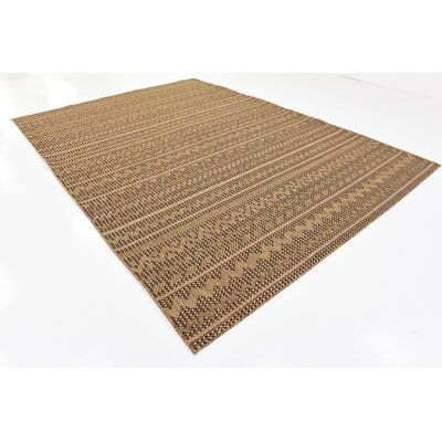 Ycatapom Light Brown Outdoor Area Rug Rug Size: 8 x 114