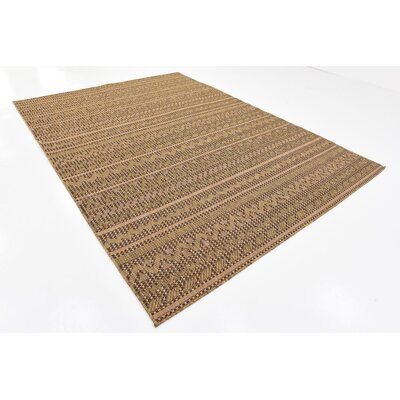 Ycatapom Light Brown Outdoor Area Rug Rug Size: 7 x 10