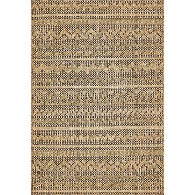 Ycatapom Light Brown Outdoor Area Rug Rug Size: 4 x 6