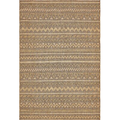 Ycatapom Light Brown Outdoor Area Rug Rug Size: 6 x 9