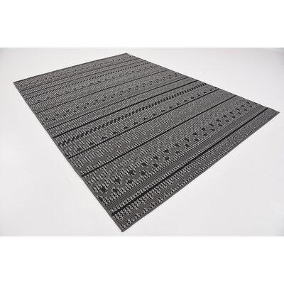 Lulu Yellow Pine Gray Outdoor Area Rug Rug Size: 7 x 10
