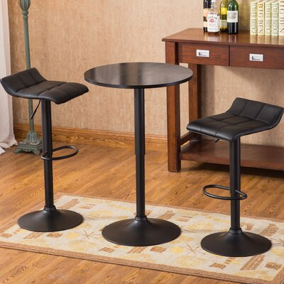 Yoder Modern 3 Piece Pub Table Set