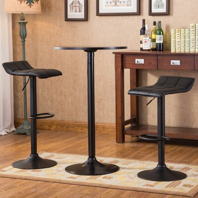 Ainsley 3 Piece Round Pub Table Set