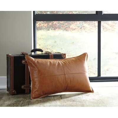 Leanora Lumbar Pillow Color: Brown