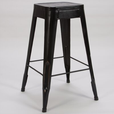 Peyton 29 Bar Stool (Set of 4) Finish: Black