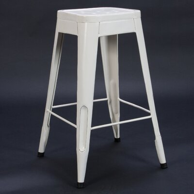 Peyton 29 Bar Stool (Set of 4) Finish: White