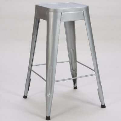 Peyton 29 Bar Stool (Set of 4) Finish: Silver