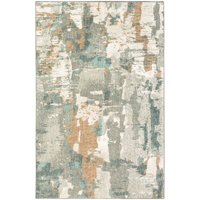Cristal Gray Area Rug Rug Size: Rectangle 53 x 710