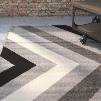 Los Altos Black Area Rug Rug Size: Rectangle 5' x 7'