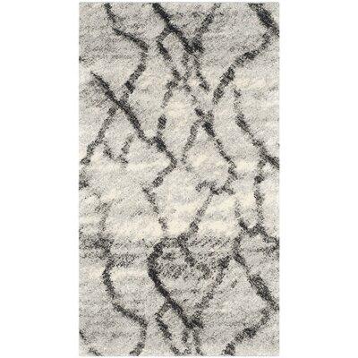 Tulare Light Grey / Black Area Rug Rug Size: 4 x 6