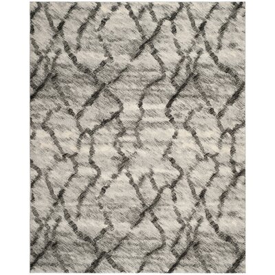 Tulare Light Grey / Black Area Rug Rug Size: 8 x 10