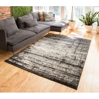 Coolidge Modern Distressed Gray Area Rug Rug Size: 53 x 73