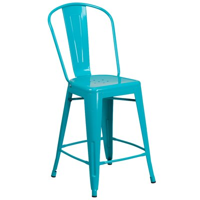 Dovercliff 24 Bar Stool Finish: Glossy Crystal Blue