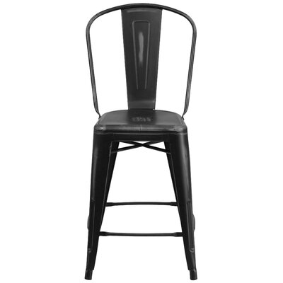 Dovercliff 24.25 Bar Stool Finish: Distressed Black