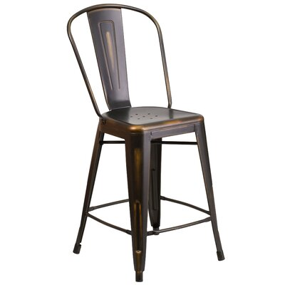 Dovercliff 24 Bar Stool Finish: Deluxe Distressed Copper