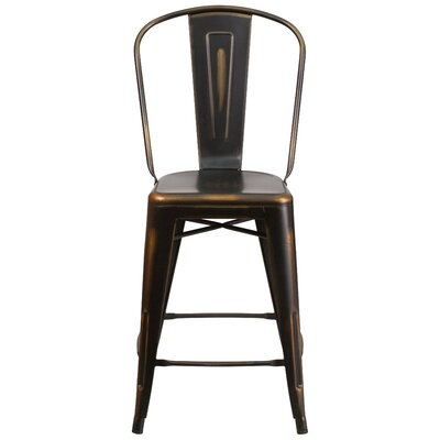 Dovercliff 24.25 Bar Stool Finish: Deluxe Distressed Copper