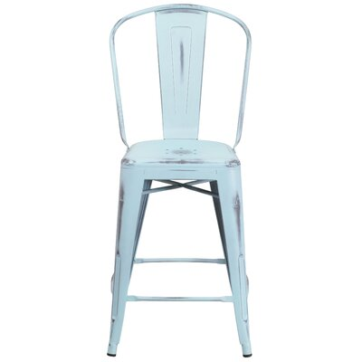 Dovercliff 24.25 Bar Stool Finish: Distressed Dream Blue