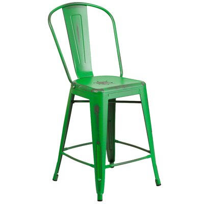 Dovercliff 24 Bar Stool Finish: Distressed Green