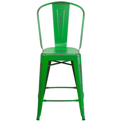 Dovercliff 24.25 Bar Stool Finish: Distressed Green