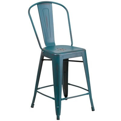 Dovercliff 24 Bar Stool Finish: Distressed Kelly Blue