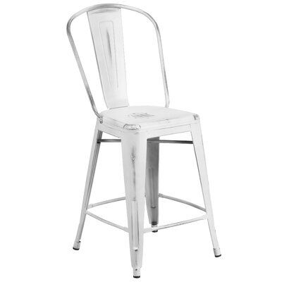 Dovercliff 24 Bar Stool Finish: Distressted White