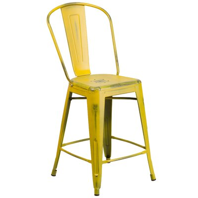 Dovercliff 24 Bar Stool Finish: Distressed Yellow