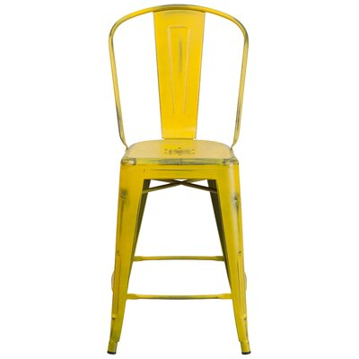 Dovercliff 24.25 Bar Stool Finish: Distressed Yellow