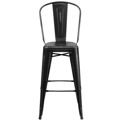 Cercis 30 inch Bar Stool Finish: Distressed Black