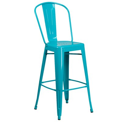 Cercis 30 Bar Stool Finish: Glossy Crystal Blue